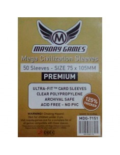 Fundas Mayday Mega Civilization Premium 75x105 mm Mayday Games Fundas