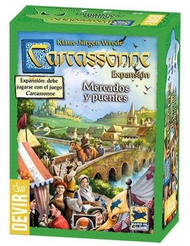 Carcassonne: Mercados y Puentes Devir Familiar