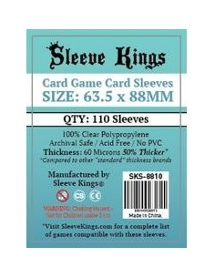 Fundas Sleeve Kings Card Game Card Sleeves 63,5x88 mm Sleeve Kings Fundas
