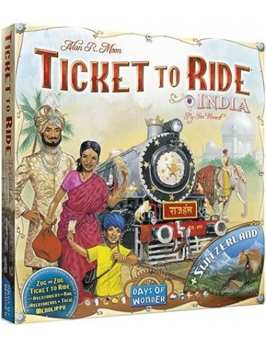 Aventureros al Tren India (+ Suiza) Asmodee Familiar