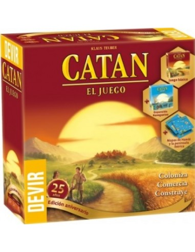 Catan Edición 25 Aniversario Devir Familiar