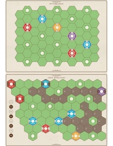 Age of Steam Deluxe: Expansion Maps - New England/Pittsburgh & Switzerland (English) Eagle-Gryphon Estrategia