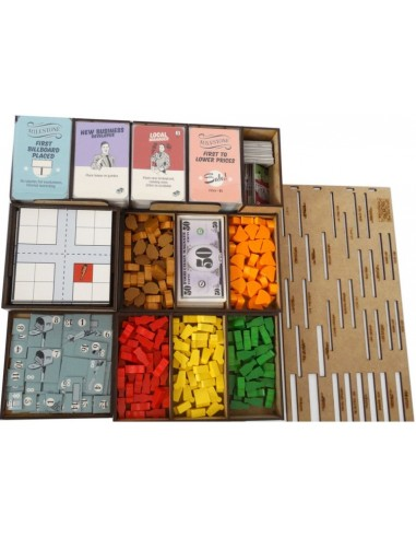 Inserto Compatible con Food Chain Magnate Base Desarmado WithOut Mess Insertos